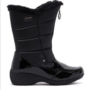 Khombu delanie black waterproof boots NEW